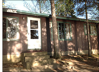 Cabin 8 is lakeside with easy access to the docks