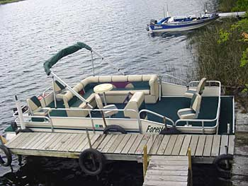 Pontoon rentals at Spider Shores Resort